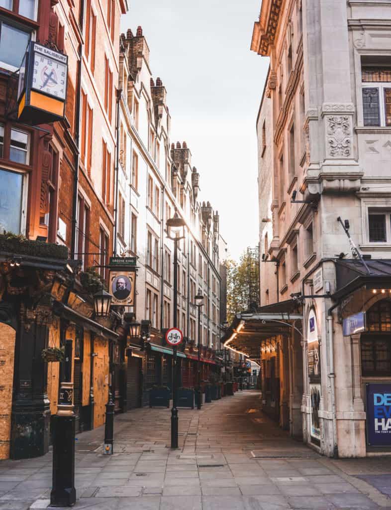 Empty Soho, empty London streets and landmarks