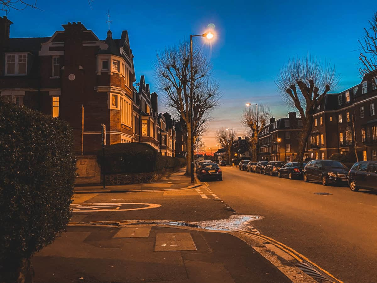 East Finchley at night