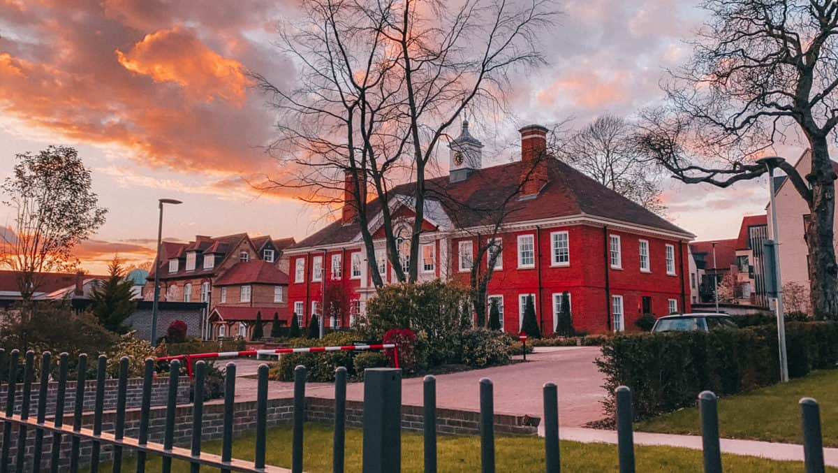 Sunset in Muswell Hill, London