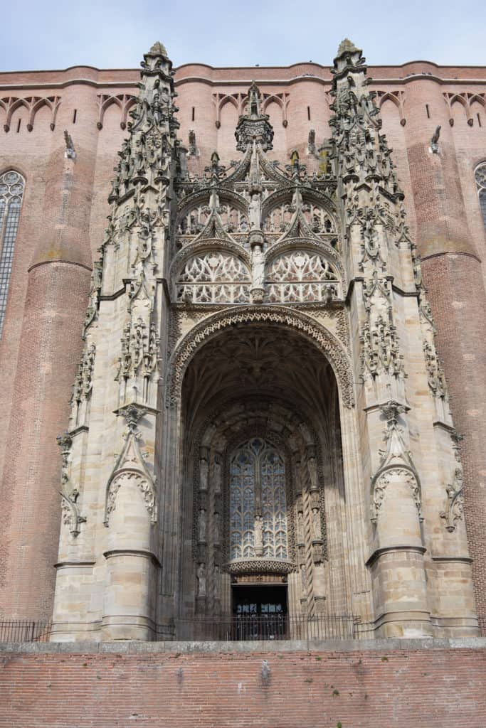 Albi - pretty town in the South-West France. Albi Cathedral