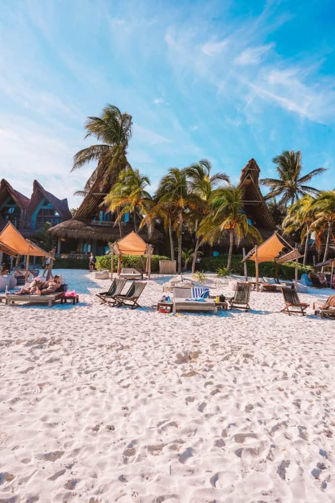 Beach clubs in Tulum