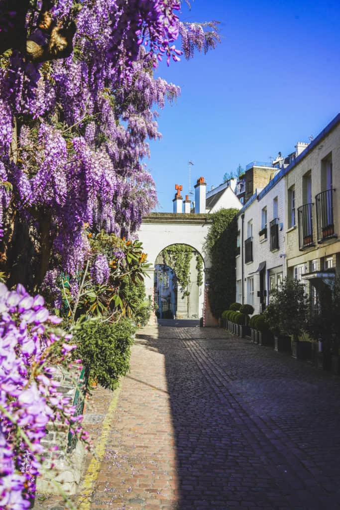 London's prettiest streets and mews - most beautiful streets in London Kynance Mews